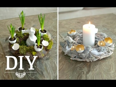 DIY: Hübsche Osterkränze mit Eierschalen selber machen | Deko Kitchen