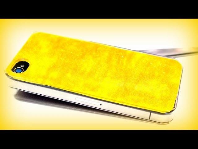 DIY Ideen Handyhülle Gold selber gestalten | Ideas Handy Case | Geschenke selber basteln | deutsch