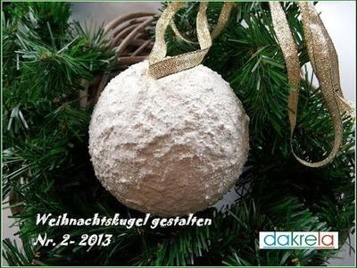DIY Schneeball selber basteln mit Vogelsand - Serie #2