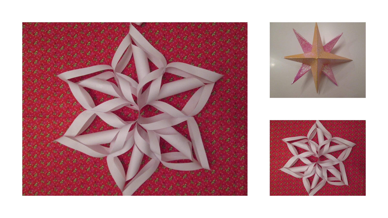 DIY: Schneeflocke & Weihnachtsstern aus Papier | by Isi-Made♥