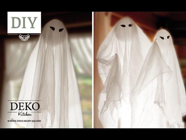 DIY: Schwebende Halloween Gespenster in nur 5 min basteln   Deko Kitchen