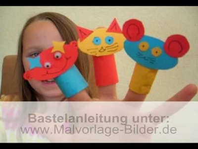 Fingerpuppe selber basteln - Puppen für Kinder