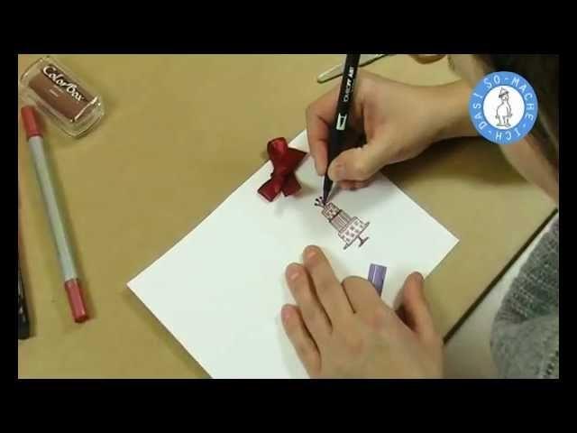 Geburtstagskarten selber basteln - Anleitung zum selber machen