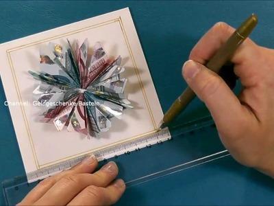 Geldscheine falten Blume z.B. Weihnachten,Hochzeit, Geburtstag