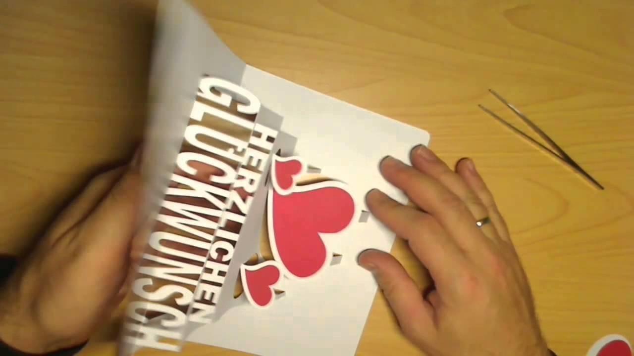 GSB Cards  Herzlichen Glückwunsch Pop up Card