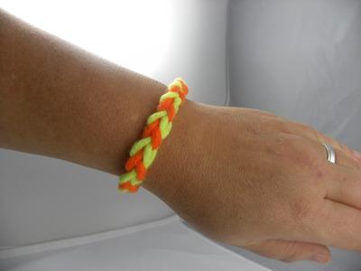 Häkeln - Armband - Loom-Look mit Wolle