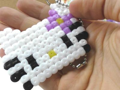 Hello Kitty aus Bügelperlen basteln. Anhänger selber machen. als Deko, Geschenk. Anleitung
