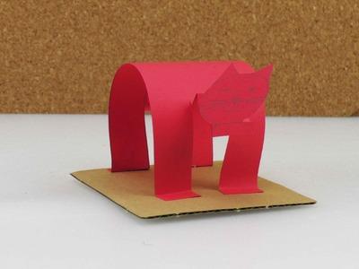 Katze basteln | aus Papier selber machen | lustig und einfach