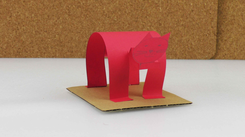 katze basteln aus papier selber machen lustig und einfach. Black Bedroom Furniture Sets. Home Design Ideas