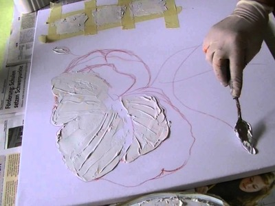 Mohnblüte malen lernen Teil1     Poppies acrylic  painting  demo   part 1