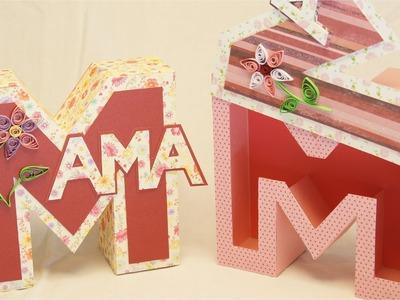 Muttertagsgeschenke basteln: MAMA Geschenkbox. Buchstabenbox zum Muttertag basteln