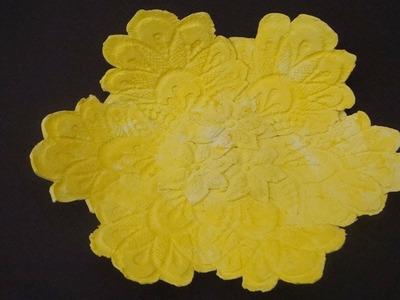 Ostern 2015 ❁ Osterschale aus Ton basteln mit einer Spitzendecke