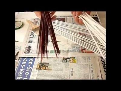 Papier Röllchen anmalen