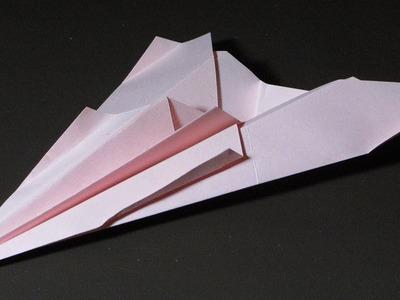 Papierflieger falten - Basteln - Papier falten - Beste Papierflieger der Welt - Rekord
