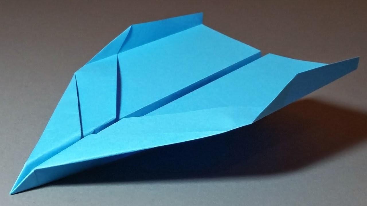 Papierflieger falten - Basteln - Papier falten - Beste Papierflieger der Welt - Rekord   Elevation