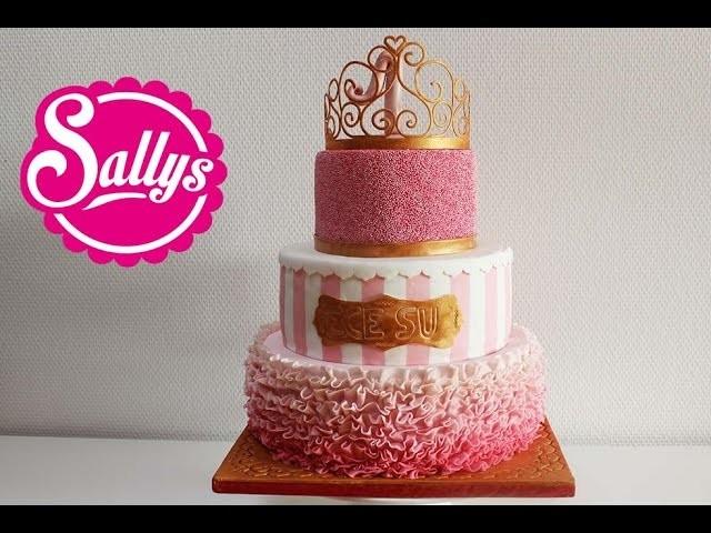 """""""Prinzessin"""" Torte zum 1. Geburtstag. Mädchen. First Birthday Cake Girl. Princess"""