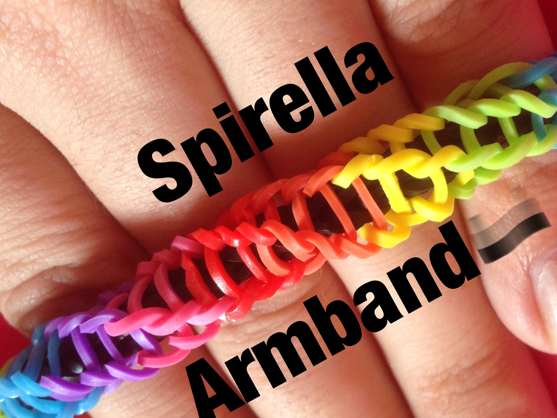 Rainbow Loom Spirilla Armband   German Tutorial