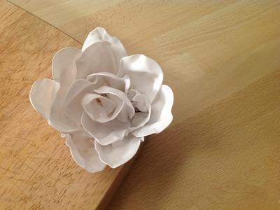 Rose basteln aus Plastiklöffel