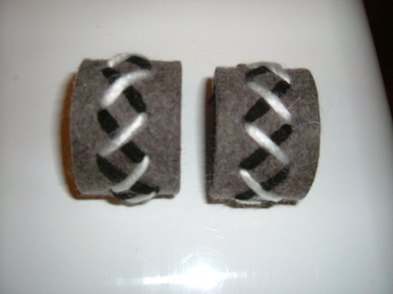 Schöne Serviettenringe Basteln mit den Wollresten  (einfach selbermachen)