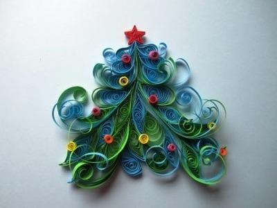 Weihnachtsbaum aus Papier  basteln.