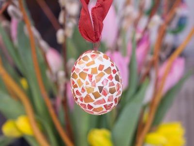 Basteln für Ostern: Mosaikeier