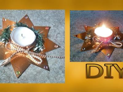Basteln für Weihnachten : Teelicht. Stern