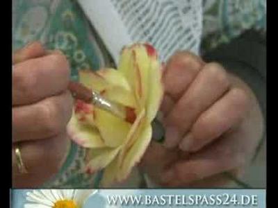 Basteln TV 3 - Anleitung für Holzrosen zum Bemalen