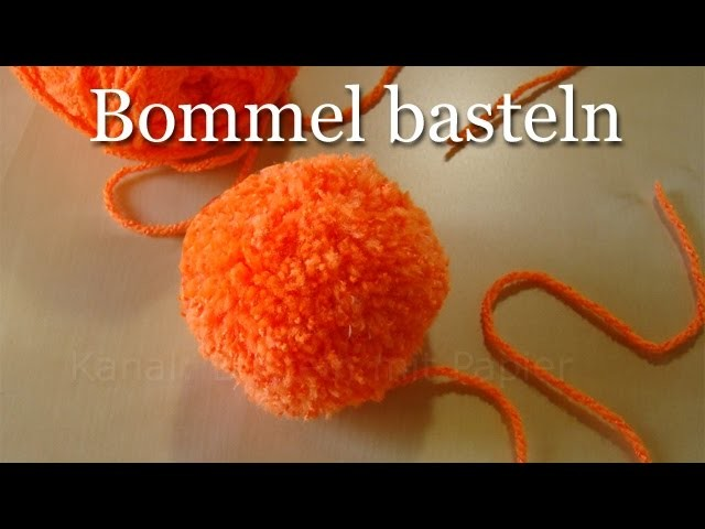 Bommel selber machen pompons einfach basteln basteln mit wolle im winter - Bommel machen anleitung ...
