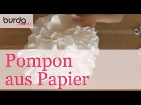 Burda style – Pompon aus Papier basteln