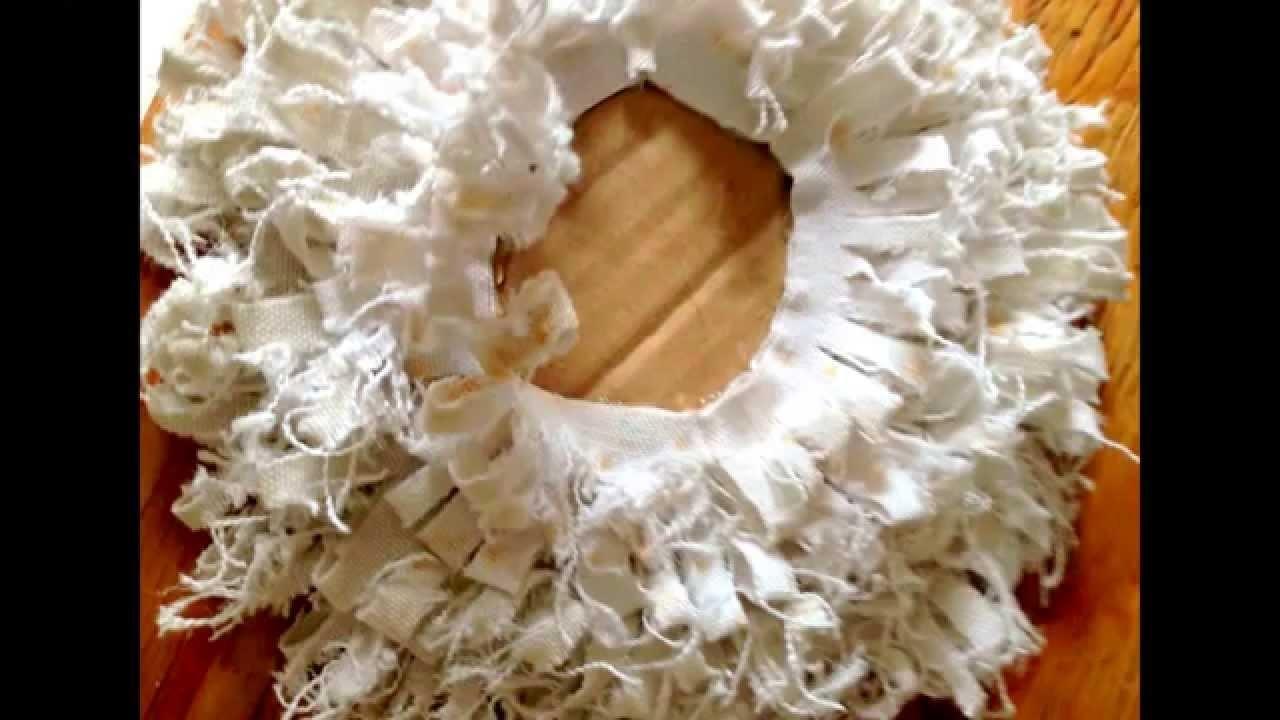 DIY, Aus Leinen Blumen basteln, Fluffy Flowers, Weihnachtsdeko, Shabby Chic
