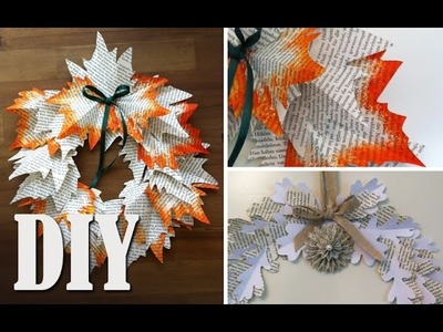 DIY: Deko Herbstkranz aus Buchseiten selber machen | Deko Kitchen