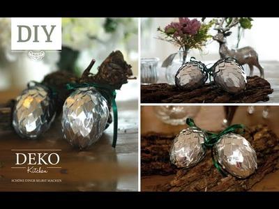 DIY: Große silberne Deko-Zapfen selber machen | Deko Kitchen
