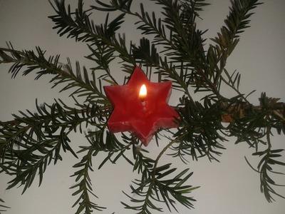 DIY: Kerze gießen -  Kerze zu Weihnachten selber basteln - Weihnachtsbasteln