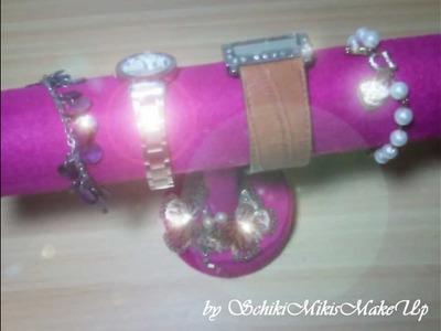 DIY Schmuckständer. Armbandhalter selber machen (Bracelet Holder) Schmuckaufbewahrung basteln