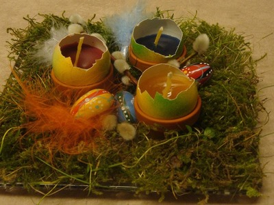 Eierkerzen basteln für Ostern ❁ Deko Ideen mit Flora-Shop