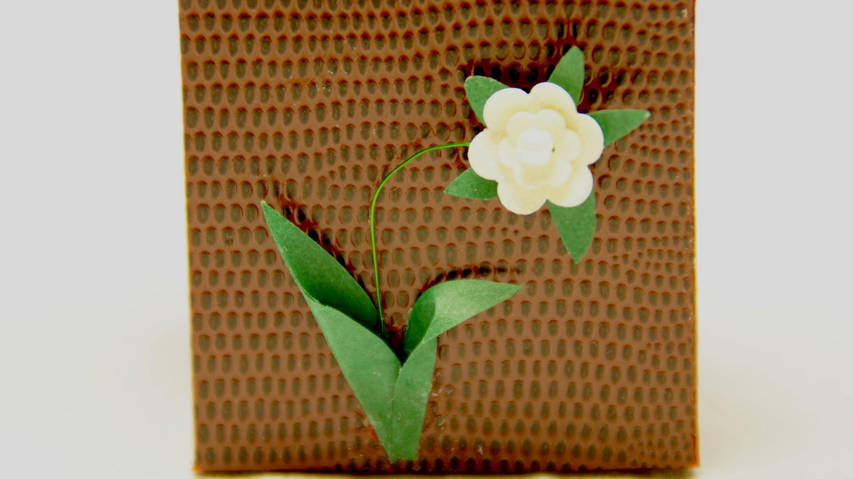 Eine süße Blume basteln für Grußkarten oder Geschenkverpackungen