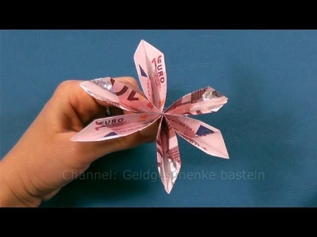 Geldgeschenke Basteln Geld Falten Blume Facher