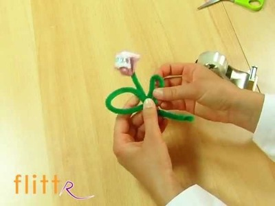 Geldgeschenke zur Hochzeit basteln - Grundlage: Blume