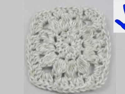 Häkeln - Granny für Decke oder Teppich aus Grande von Junghans-Wolle