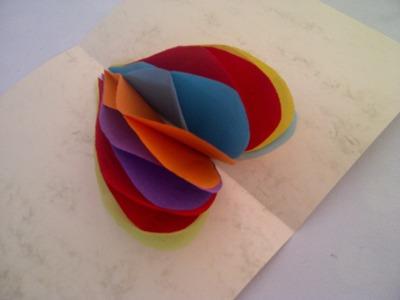 Honeycomb-Herz 3-D Pop-Up Karte. Sehr einfach. Bastelidee zum Muttertag, Vatertag oder Geburtstag