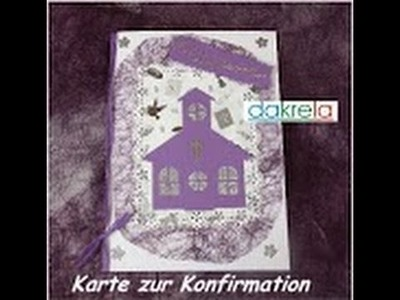 Karte zur Konfirmation. Kommunion. Taufe basteln card#5.2014 [Tutorial]