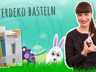 Last Minute Osterdeko basteln – Eier auspusten und bemalen