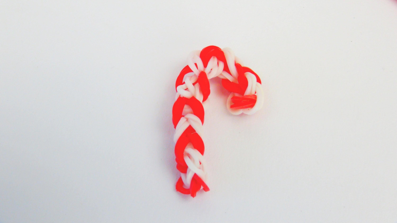 Loom Bands Zuckerstange Anhänger Rainbow Loom Candy Cane Charm with the Rainbow Loom Christmas Charm