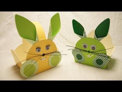 Osterkörbchen, Osterhase basteln zu Ostern.  How to make an Easter Bunny Egg Basket