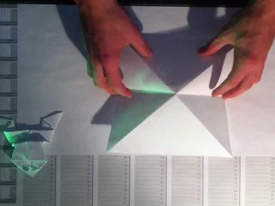 Papierfrosch basteln. Frosch aus Papier falten