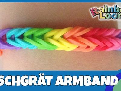 RainbowLoom Fischgrät-Armband - deutsche Anleitung