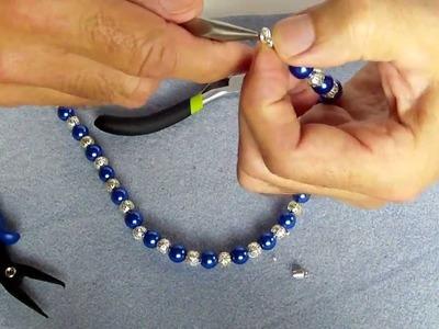 Schicke Perlen Kette Basteln