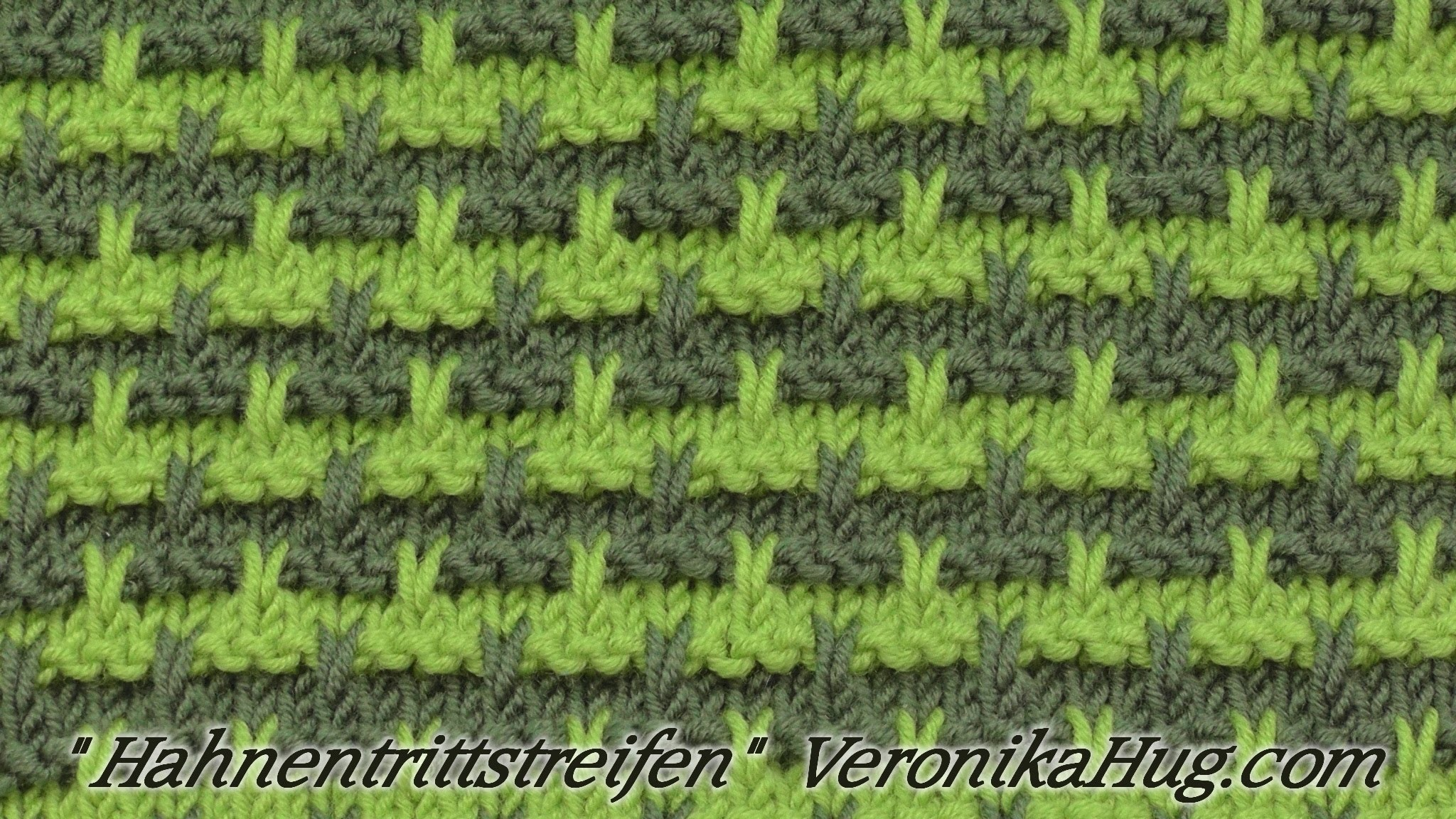 Stricken - Hebemaschenmuster - Hahnentrittstreifen - Veronika Hug