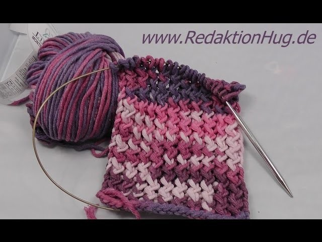 Stricken - Schal im Zick-Zack-Muster aus Montego von ONline-Garne