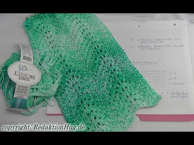 Tunesisch Häkeln Schal Im Muster Wellentraum Veronika Hug